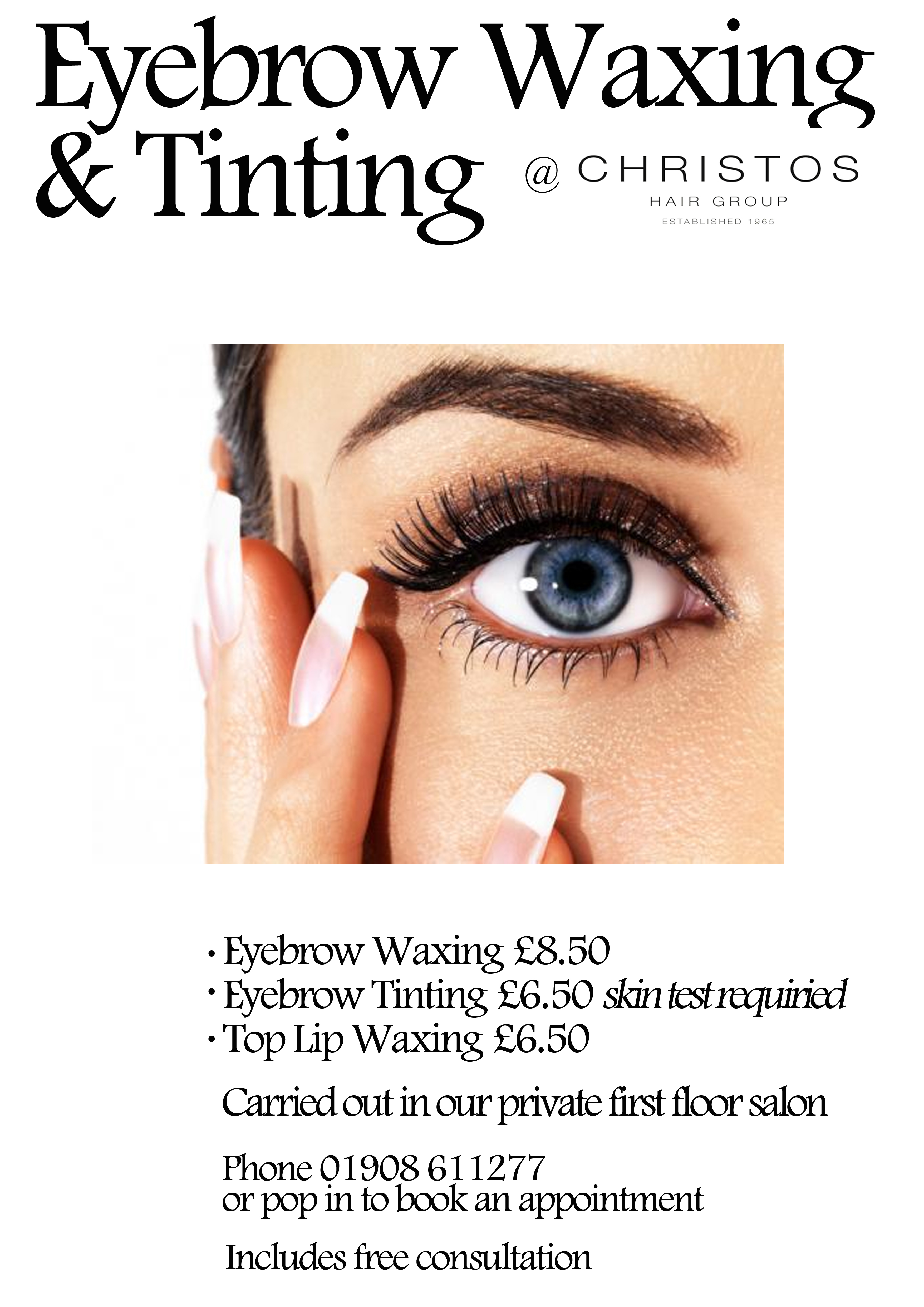By having your eyebrows waxed it helps with the application of your